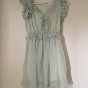 FREE* NWOT Mini Dress Seafoam Green Size Small